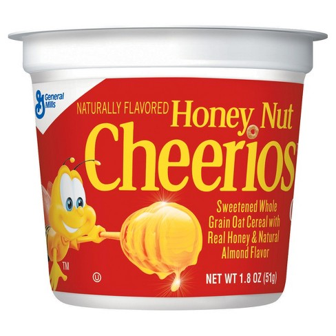 Honey Nut Cheerios Cup Breakfast Cereal - 1.8oz - General Mills - image 1 of 4