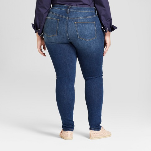 c369e6da857 Women s Plus Size Curvy Skinny Jeans - Universal Thread™ Dark Wash ...