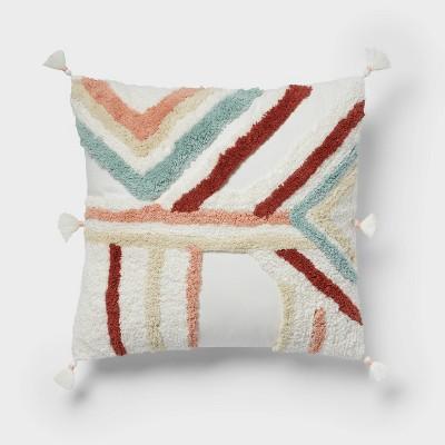 Square Textured Throw Pillow Cream - Opalhouse™