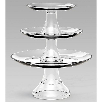 Glass 3-Tier Serving Set - Threshold™