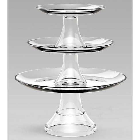 Glass 3-Tier Serving Set - Threshold™ - image 1 of 4