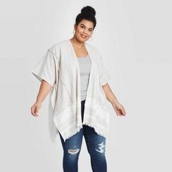 Women's Woven Striped Kimono - Universal Thread™ Gray One Size