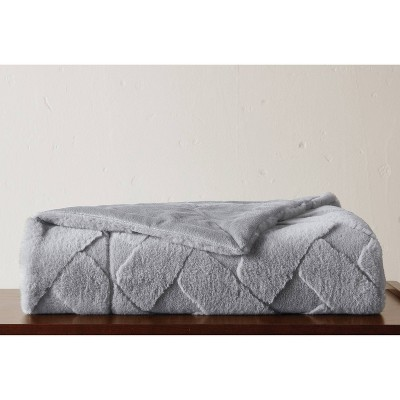 """50""""x60"""" Sculpted Faux Fur Throw Blanket - VCNY"""