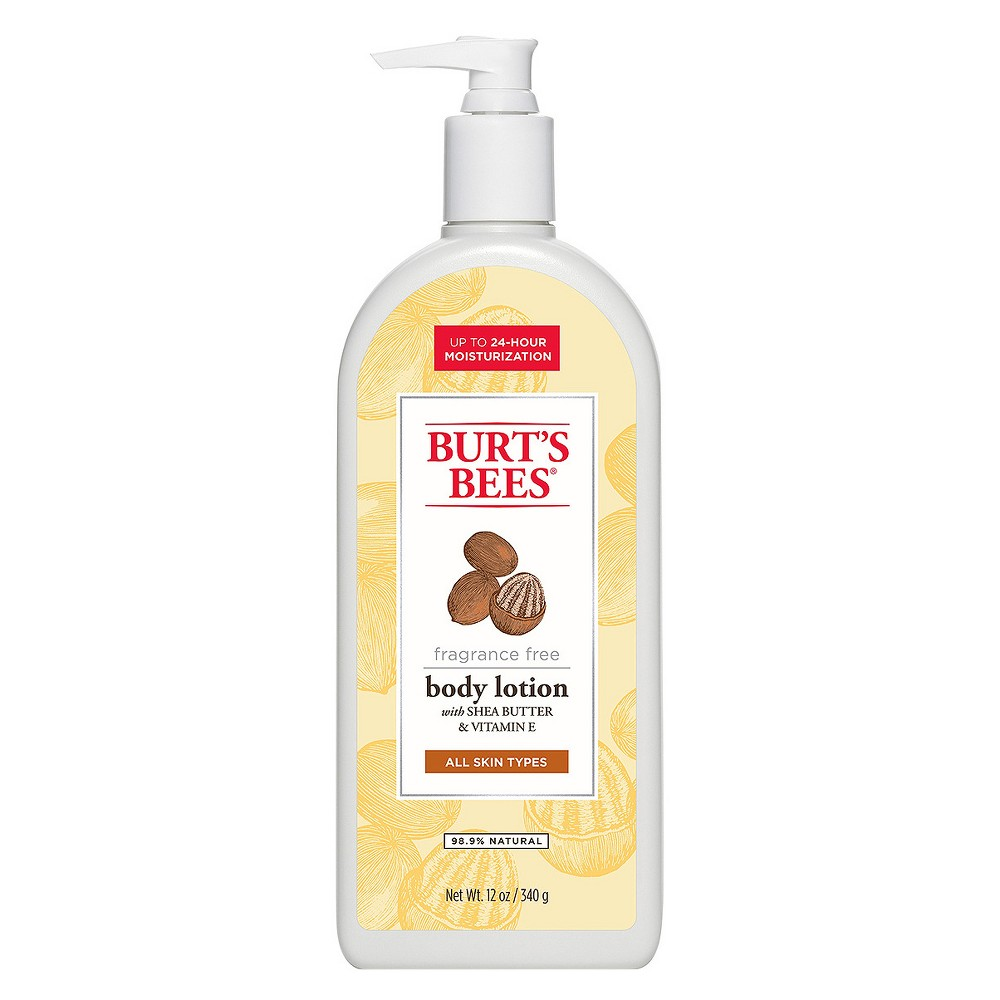 Burt's Bees Fragrance Free Shea Butter and Vitamin E Body Lotion - 12 oz