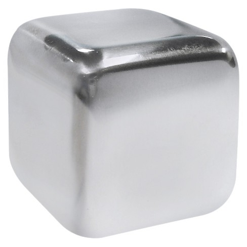 Epicureanist Stainless Ice Cubes (Set of 6) - image 1 of 4