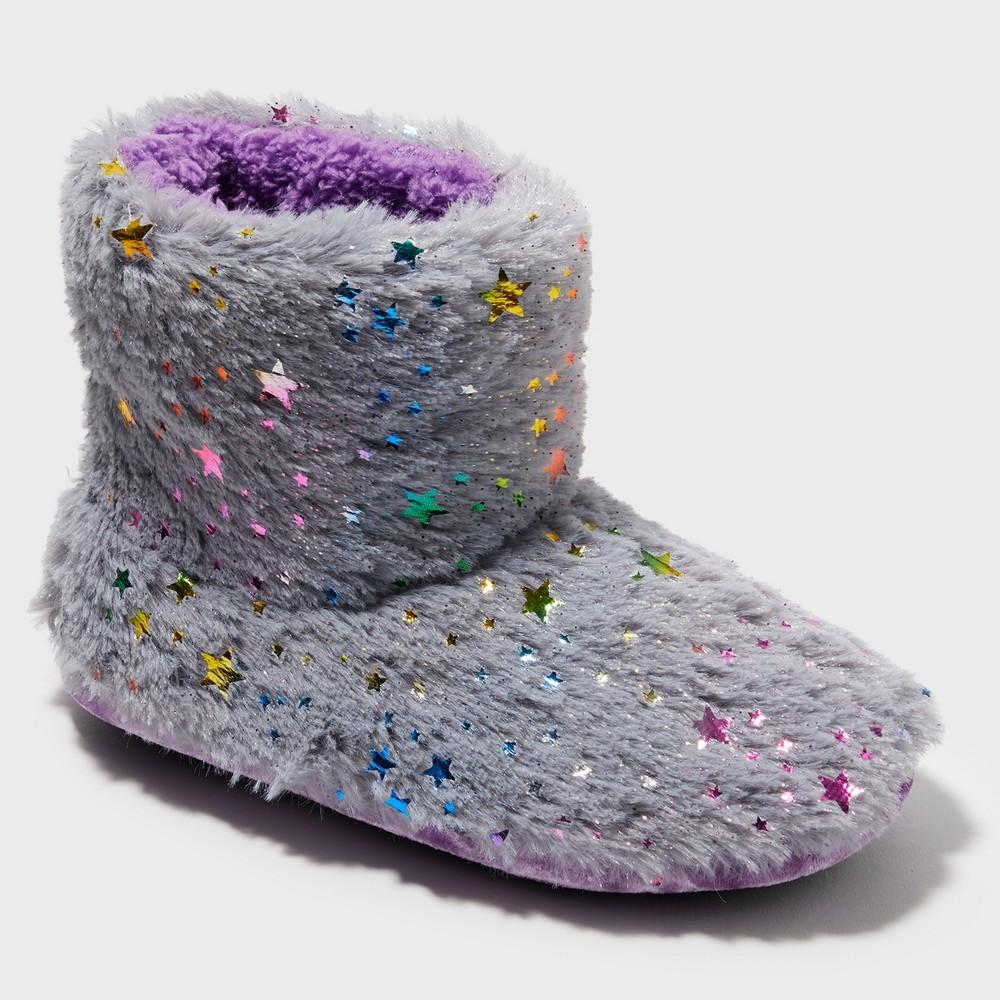 Girls' Dearfoams Bootie Slippers - Gray 7-8