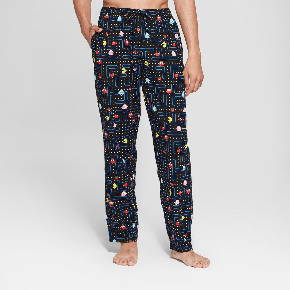 Men's Pac-Man Game Board Pajama Pants - Black M