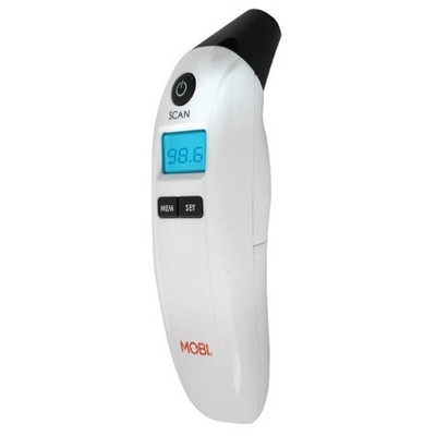 Prime Ear and Forehead Digital Thermometer with Large LCD display, Memory recall, Room and Object temperature Reading