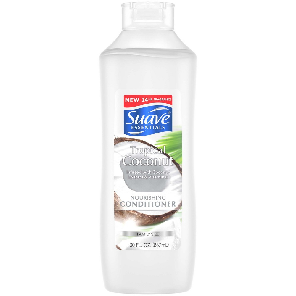 Image of Suave Essentials Tropical Coconut Infused With Coconut Extract & Vitamin E Conditioner - 30 fl oz