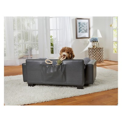 Enchanted Home Pet Skylar Dog Sofa   Dark Grey : Target