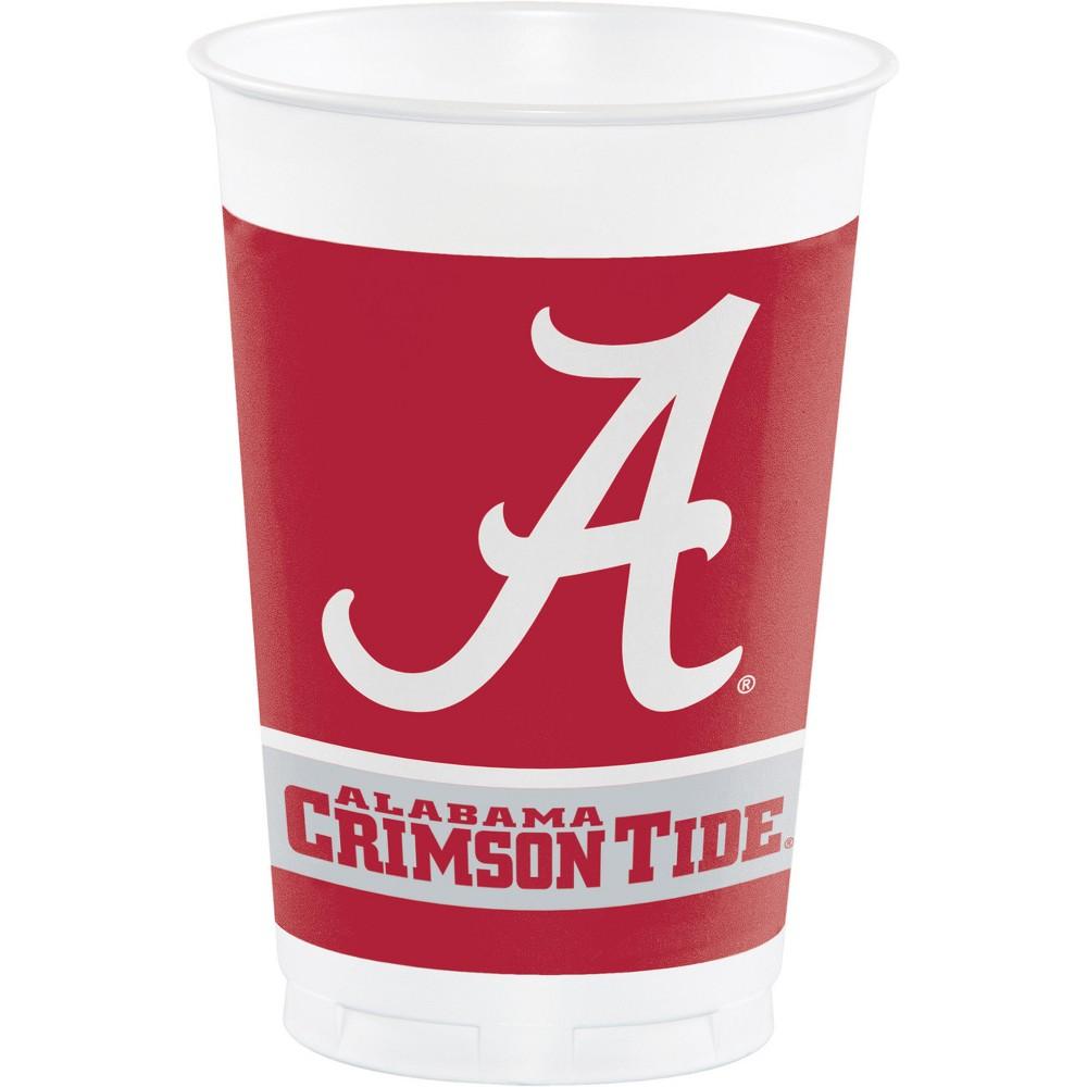 8ct Alabama Crimson Tide Plastic Cups