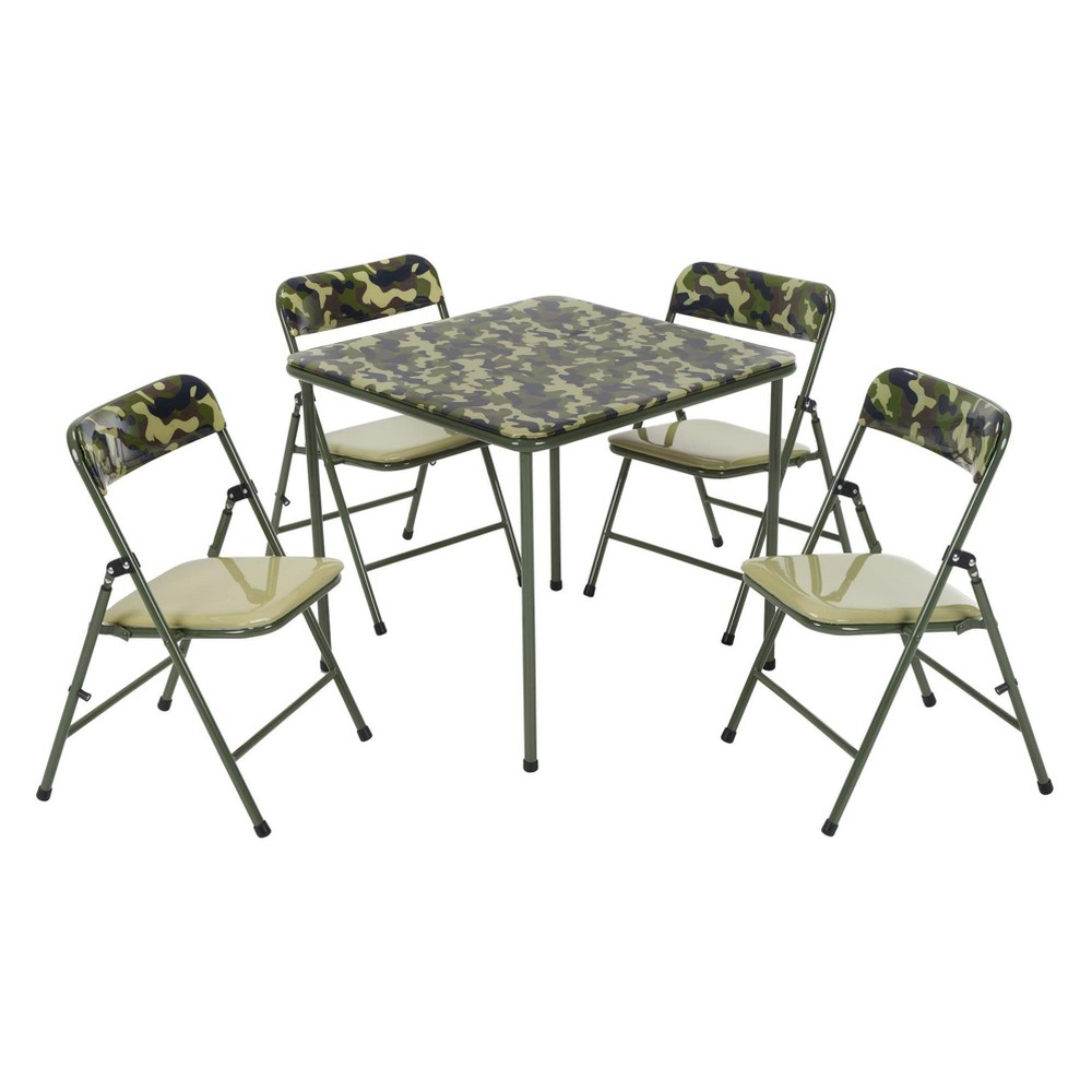 5pc Kid's Table And Chair Set Camouflage Green - Cosco