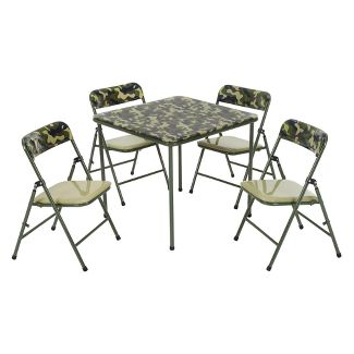5pc Kids Table And Chair Set Camouflage Green - Cosco