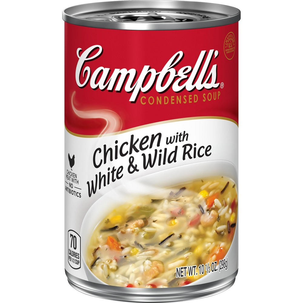 Campbell's Condensed Chicken with White & Wild Rice Soup 10.5 oz