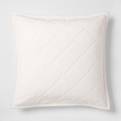 Cream Velvet Sham (Euro)- Fieldcrest®