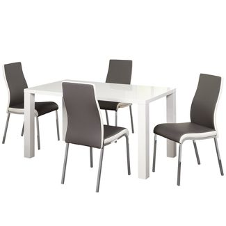 5pc Cally Dining Set - Gray - Buylateral