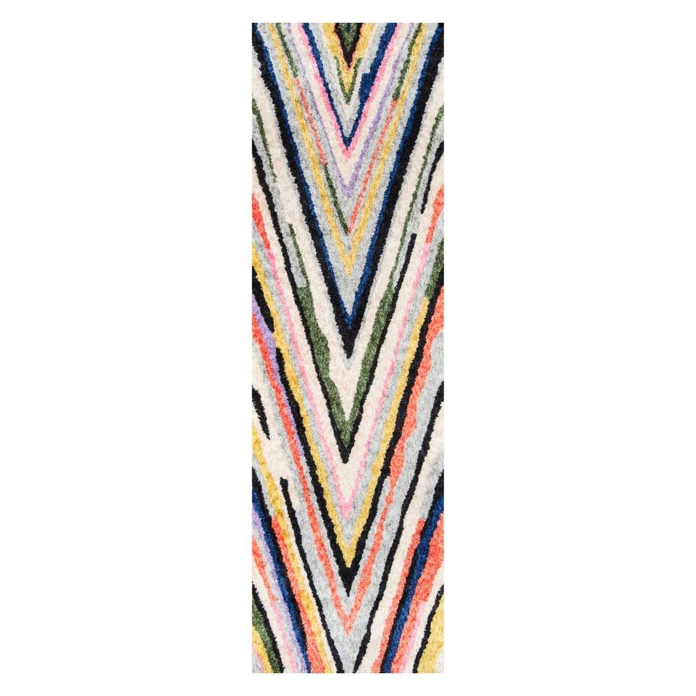 Image of 2'3X8' Stripe Tufted Runner - Novogratz By Momeni, Multi-Colored