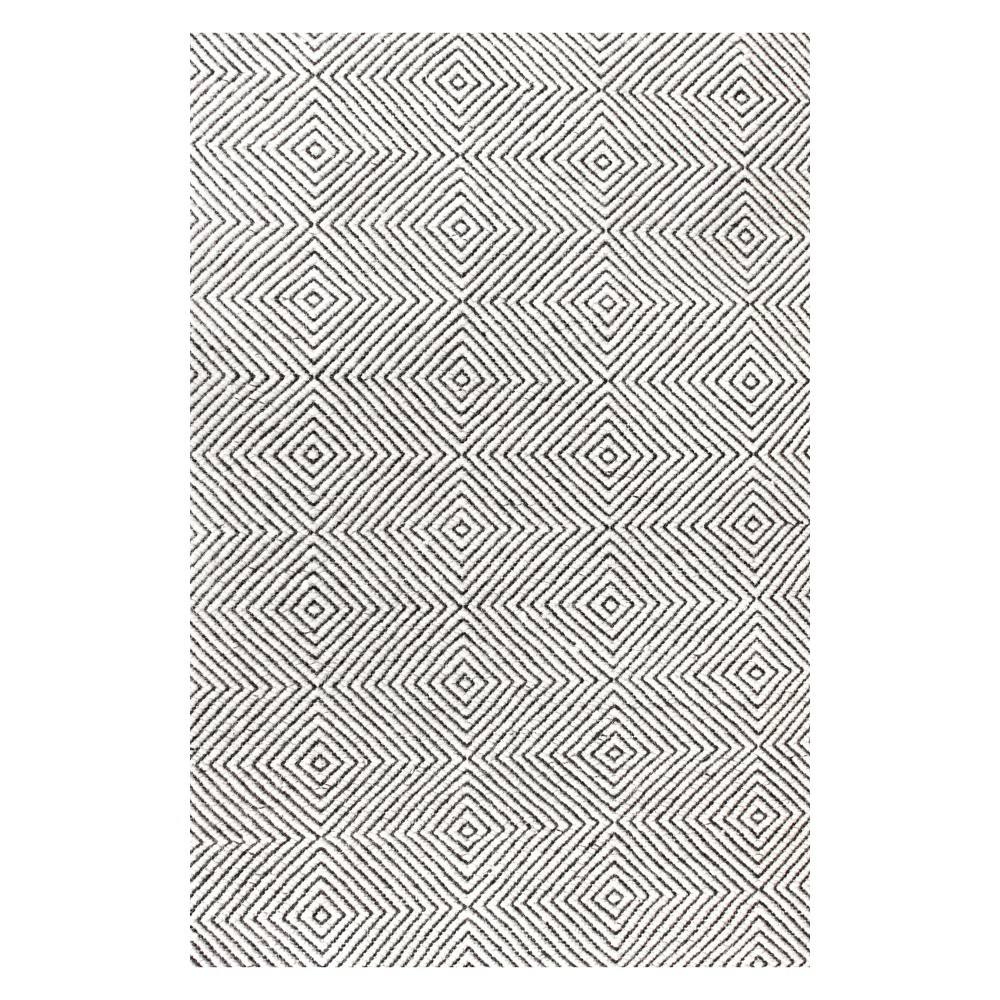 10 39 X14 39 Ago Wool And Cotton Hand Woven Area Rug Ivory Nuloom