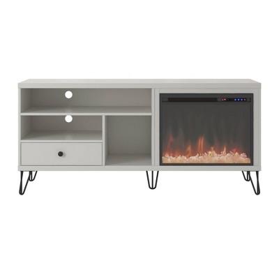 "65"" Heywood Retro Fireplace Tv Stand - Room & Joy"