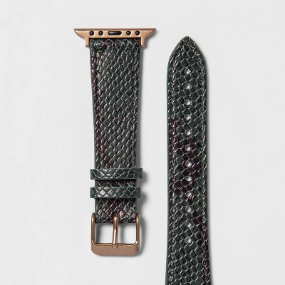heyday™ Apple Watch Band 38/40mm - Snake Skin Print Green