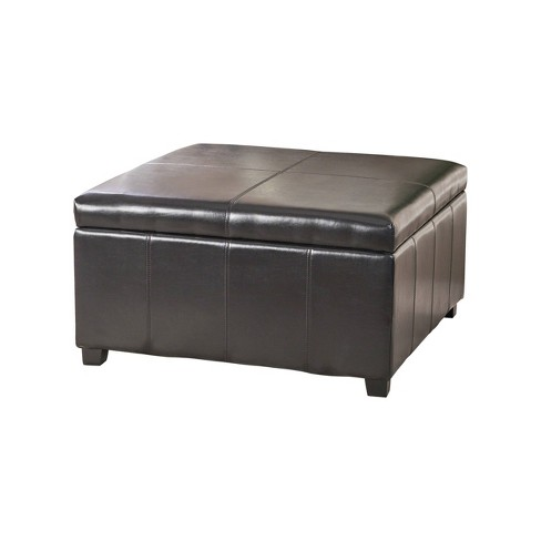 Pleasing Forrester Bonded Leather Square Storage Ottoman Espresso Christopher Knight Home Beatyapartments Chair Design Images Beatyapartmentscom