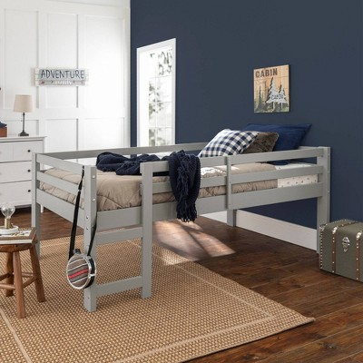 Solid Wood Low Loft Bed - Saracina Home
