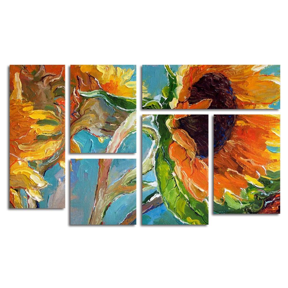 'Sun 11' by Richard Wallich Ready to Hang Multi Panel Art Set, Multi-Colored