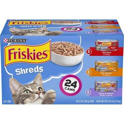 Purina Friskies Shreds Variety Pack Wet Cat Food Cans - 5.5oz/24pk