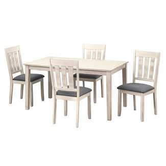 5pc Olin Dining Set White - Buylateral