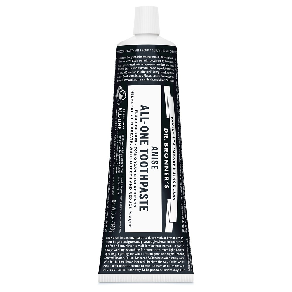 Image of Dr Bronner's Anise All-One Toothpaste 5 oz