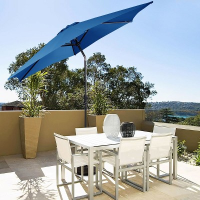 Costway 10 FT Patio Umbrella Patio Market Steel Tilt W/ Crank Outdoor Yard Garden
