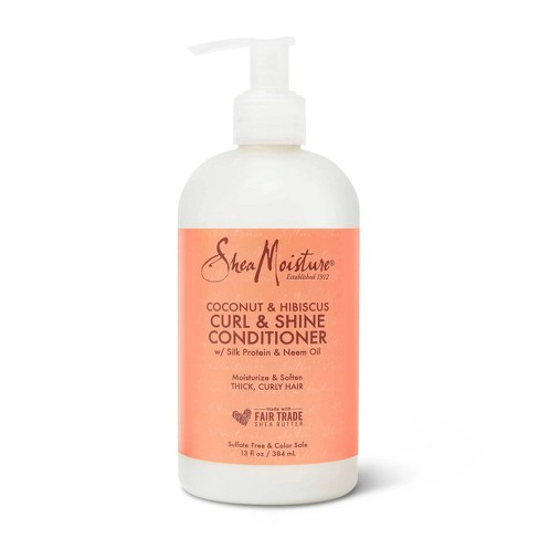 SheaMoisture Curl and Shine Conditioner for Thick Curly Hair Coconut and Hibiscus - 13 fl oz - image 1 of 4
