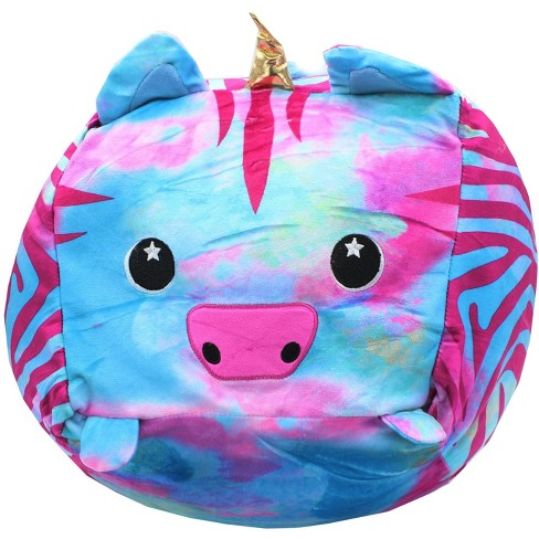 MMG Brands Moosh-Moosh 10 Inch Square Patterned Plush - Aurora the Zebracorn - image 1 of 2