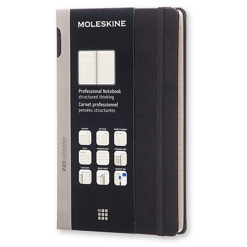 "Moleskine Professional Composition Notebook, Elastic Closure, Narrow Ruled, 240 sheets, 8.25"" x 5"" - Black - image 1 of 4"