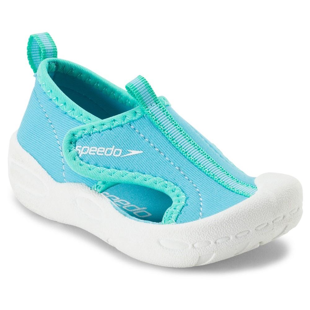Speedo Toddler Kids Hybrid Water Shoes - Blue (Large), Toddler Girl's