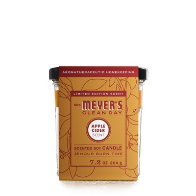 Mrs. Meyer's Clean Day Fall Large Soy Candle - Apple Cider - 7.2oz