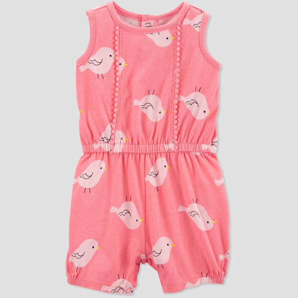 Baby Girls' Bird Romper - Just One You made by carter's Pink 3M