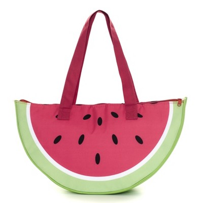 Lakeside Insulated Lunch Bag with Carry Straps and Fruit Slice Motif