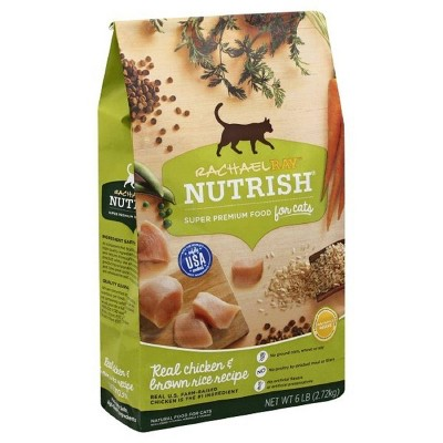 Rachael Ray Nutrish Real Chicken & Brown Rice Recipe Adult Premium Dry Cat Food