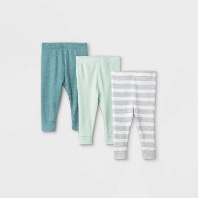 Baby Boys' 3pk Pull-On Pants - Cloud Island™ Mint 0-3M