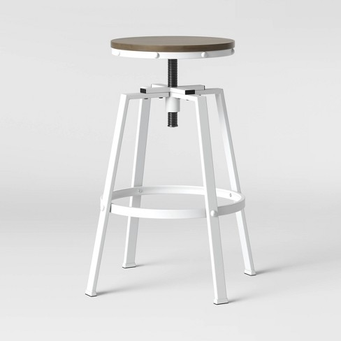 Sensational Lewiston Adjustable Swivel Barstool White Threshold Forskolin Free Trial Chair Design Images Forskolin Free Trialorg