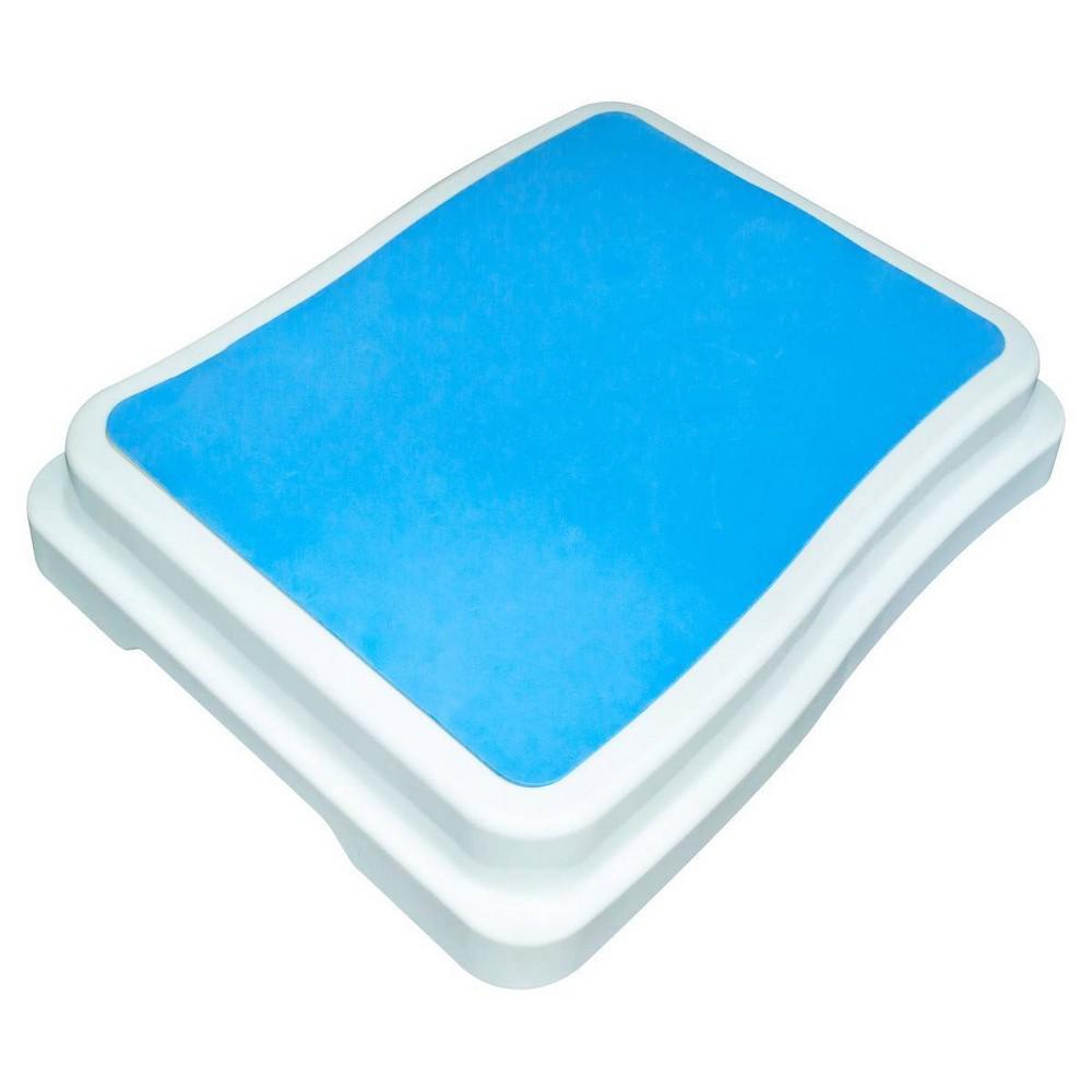 Non Slip Bath Tub Step Blue Evekare