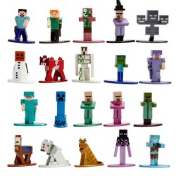 "Jada Toys Nano Metalfigs Minecraft Die-Cast Figures 1.65"" 20-Pack"