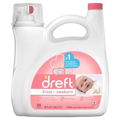 Dreft Stage 1: Newborn Baby Liquid Laundry Detergent - 128 fl oz