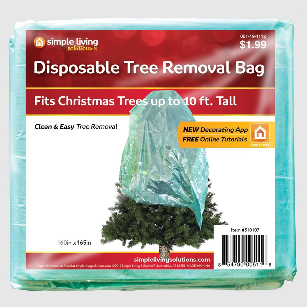 Image of Disposable Christmas Tree Trash Bag - Simple Living Innovations, Green
