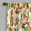 Set of 2 Zara Jacobean Back Tab Rod Pocket Room Darkening Window Curtain Panels - Lush Décor - image 2 of 4