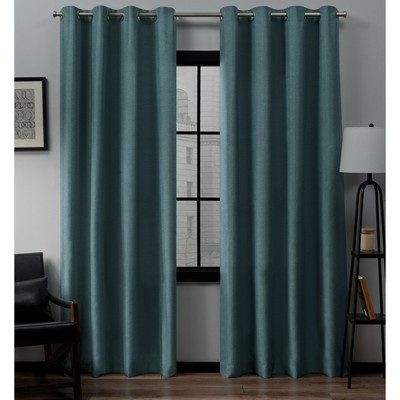 Set of 2 Loha Linen Window Curtain Panel - Exclusive Home™