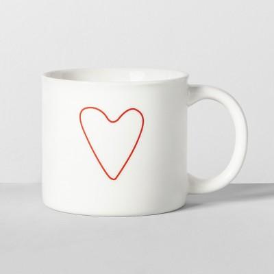 16oz Porcelain Heart Mug White - Opalhouse™