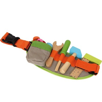Small Foot Wooden Toys Tool Belt and Accessories Adjustable Playset