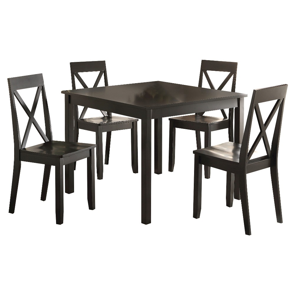 5 Piece Zlipury Dining Set Wood/Black - Acme